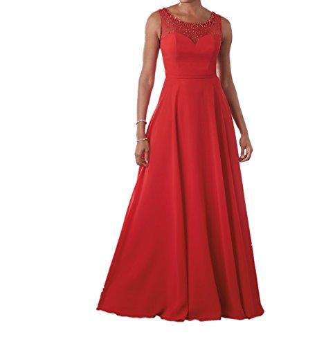 Ballkleider Partykleider Braut La Rot Promkleider Brautmutterkleider Abendkleider Festlichkleider Aermellos mia Lang AqwPX