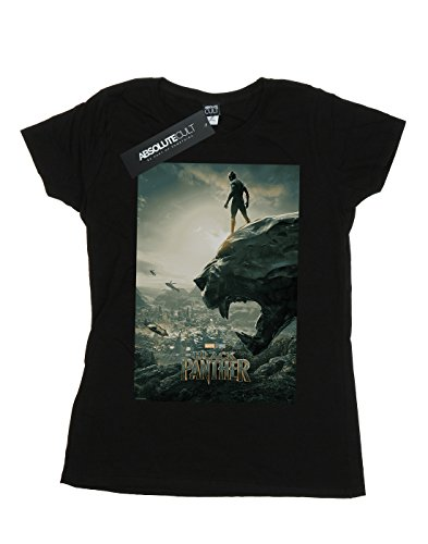 Woman Negro Camiseta Poster Panther Marvel Black zCXqX5w