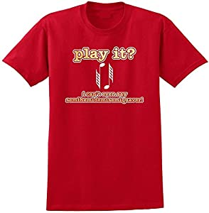 Music Notation SemiHemiDemiSemiQuaver - Red Rot T Shirt Größe 87cm 36in Small...