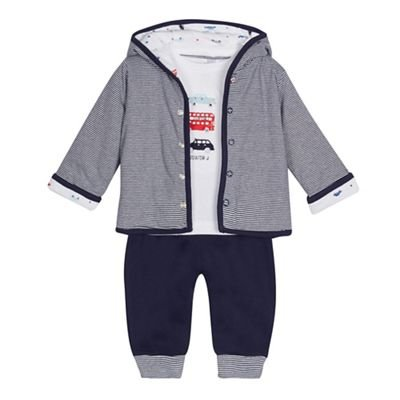 Baby Boys' Navy and White Striped Outfit Set J by Jasper Conran