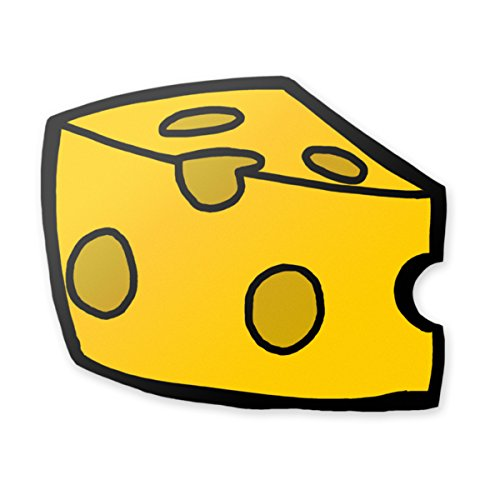Applicable Pun Cheddar Slice Yellow Cheese - Vinyl Decal for Outdoor Use on Cars, ATV, Boats, Windows and More - Color 4 inch