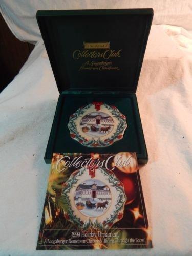(Longaberger Collectors Club 1999 Hometown Christmas Ornament - Porcelain by Longaberger)