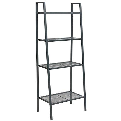 Dporticus 4 Tier Modern Ladder Bookshelf Free Standing