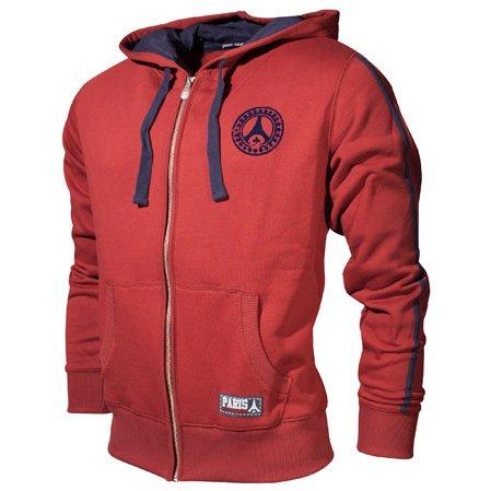 Chaqueta sudadera Shirt de cremallera con capucha Paris Saint Germain - Lifestyle - fútbol Club Liga 1 - para hombre, talla DE adulto granate small ...