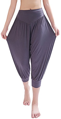 AvaCostume Modal Cotton Soft Yoga Sports Dance Harem Capri Pants, XL, -
