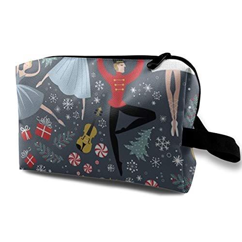 (SLADDD1 Nutcracker Travel Toiletry Bag - Cosmetic Organizer Storage Kit)
