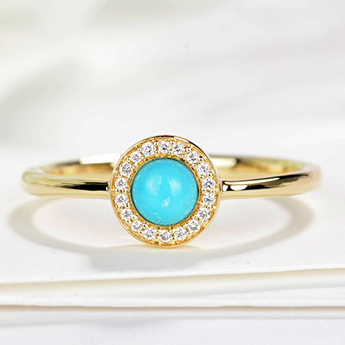 Turquoise engagement ring set Natural Turquoise ring Alternative Engagement Ring turquoise jewelry Turquoise diamond ring Halo diamond ring