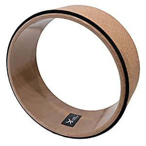 """ARC fitness Project 13"""" x 5"""" Cork Yoga Wheel - Cork Foam Cushioning, Safely Support 600lbs. Anti-Slip, Perfect Wheel for Stretching and Improving Backbends. Instructor's Choice!"""