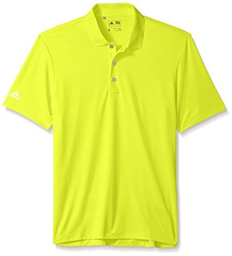 adidas Golf Boys Performance Polo, Semiolar Yellow, (Taylormade Childrens Clothing)