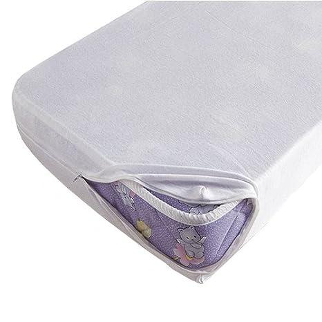 Bolín Bolón 1170801019260 - Funda para colchón de cuna, 60 x 120 cm, color blanco: Amazon.es: Bebé