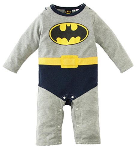 V28® Superhero's Unisex-baby All in 1 Fancy Romper Suits with Cape (95 (18-24month), Batman-LongSleeves)