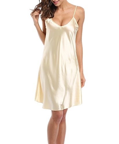 Old-to-new Satin Chemises Slip Lingerie Sleepwear Lady Girls Sexy Nightdress (Size Plus Satin Dresses)