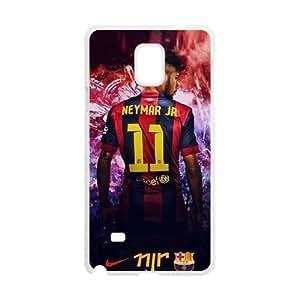 Neymar C8H1Rf Funda Samsung Galaxy Note 4 caja del teléfono celular Funda caja del teléfono celular blanco I6C2VK plástico fundas de protección