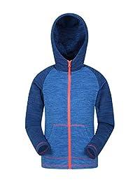 Mountain Warehouse Snowdonia Kids Hoodie - Girls & Boys Warm Jacket Cobalt 5-6 years