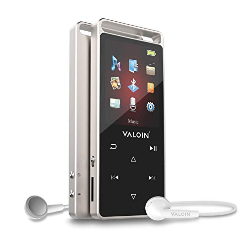 2019 New MP3 Player, Valoin Ultra Slim Music Player with FM Radio, Voice Recorder, Video Play, Text Reading Expandable Up to 128 GB