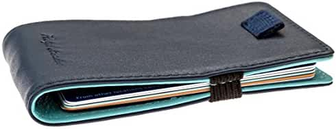 Minimalist Leather Slim Wallet & Front Pocket Card Holder for Men & Women