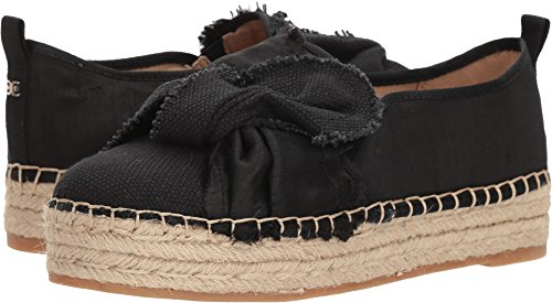 Espadrille Silk (Sam Edelman Women's Cabrera Black Heavy Woven Canvas/Silk Dupioni 8.5 W US W)
