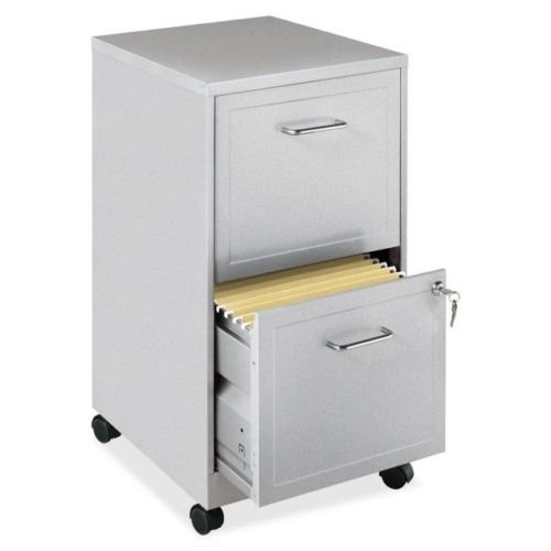 2-Drawer Home Office Mobile Veritical File Cabinet Gray (Narrow Drawer Lock File Cabinet)