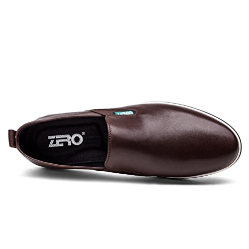 ZRO Mens Fashion Twin Gore Slip-On Casual Shoes Comfortable Dark Brown GRM1YjoTz
