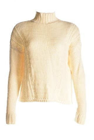 UPC 689439946402, Maison Jules Womens Wool Blend Mock Turtleneck Pullover Sweater Ivory S
