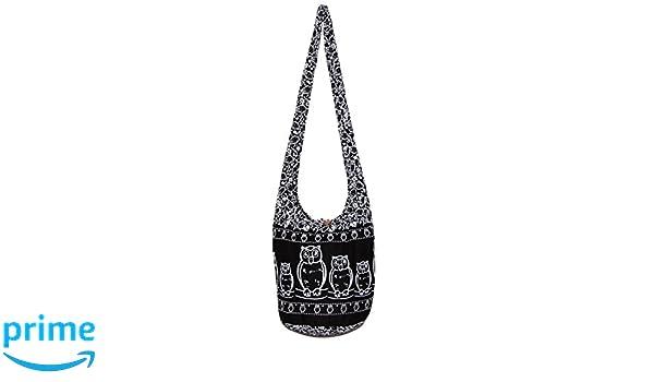 101f335f53f Amazon.com  Owl Bohemian Hobo Hippie Boho Crossbody Bag Purse Small 33