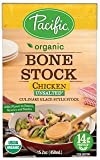 Pacific Foods, Organic Bone Stock - Chicken Unsalted (Pack of 12)