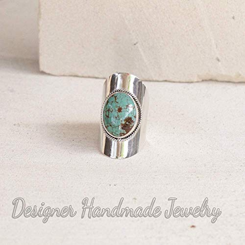 turquoise rings 925 sterling silver ring big turquoise boho gypsy rings chunky ring Tibetan turquoise ring natural turquoise womans ring stylish ring large silver ring