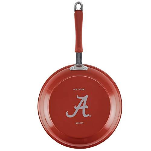 "College Kitchen Collection 11399 10"" Aluminum Skillet, 10 Inch, Alabama Crimson Tide Team Logo"