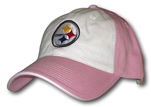 Pittsburgh Steelers Light Pink with White Slouch Adjustable Hat Lid Cap