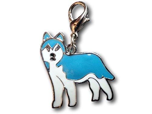 Enamel Dog Breed Keychain Keyring Clip Charms by Pashal Puppies (Alaskan Malamute)