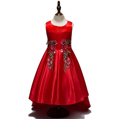 434165cbc Apna Party Frock Dress for Kids Girls (Red)  Amazon.in  Clothing ...