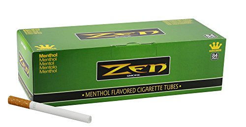 1 Box - 200pc Zen King Size Menthol Cigarette Tubes (Best Menthol Cigarette Tubes)
