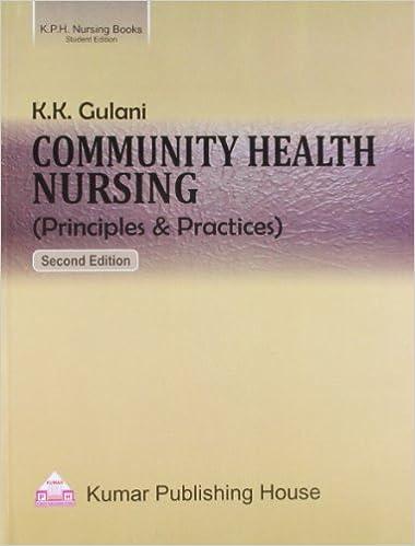 Amazon in: Buy Community Health Nursing (principles and
