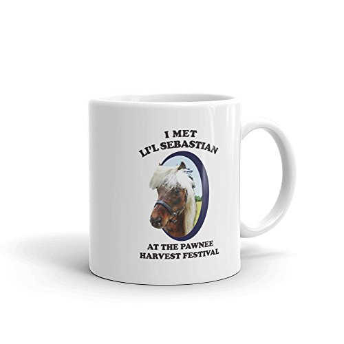 Parks And Recreation Li'l Sebastian 11 oz White Ceramic (Tom & Jerry Coffee Mug)