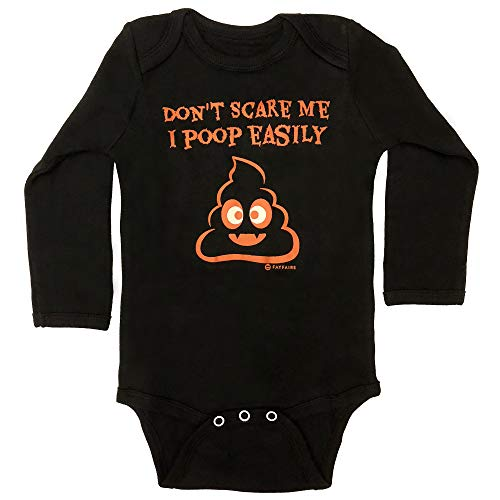 Fayfaire Baby Halloween Outfit: My First Halloween Infant Girl Boy Don't Scare Me NB-12M Black for $<!--$9.99-->