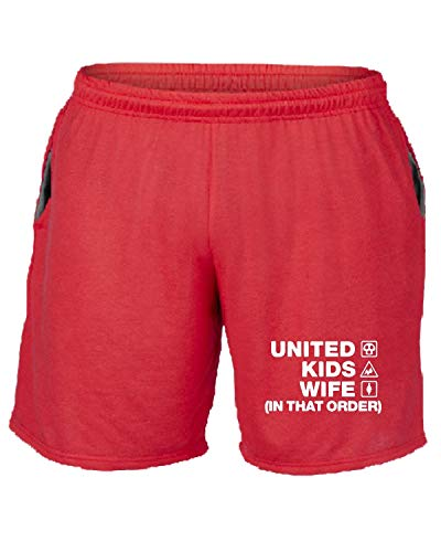 Manchester Tuta United shirtshock Pantaloncini T Wc1235 Rosso BSXZapxwq