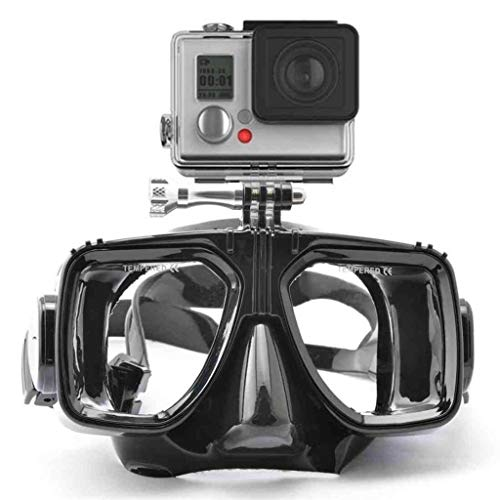 Sodoop Diving Mask with Locking Mount for DJI Osmo Action Camera,Mutli-Function Underwater Dive Mask Goggles for Gopro Hero 4/3+/3/2/1, Swim Glasses Scuba Cover Impact Resistance
