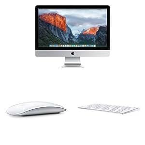Apple iMac MK482LL/A 27-Inch Retina 5K Display Desktop (2TB Fusion Drive), Silver (Newest Version) & Magic Mouse & Keyboard Bundle