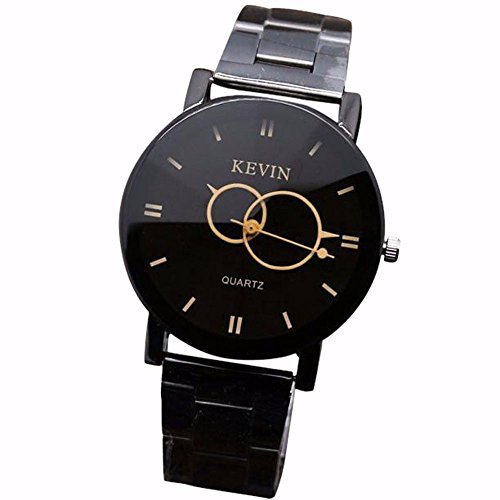 (Bokeley Watch for Women, Luxury Quartz Crystal Sport Stainless Steel Wrist Watch Casual Watches Gift (Black) )
