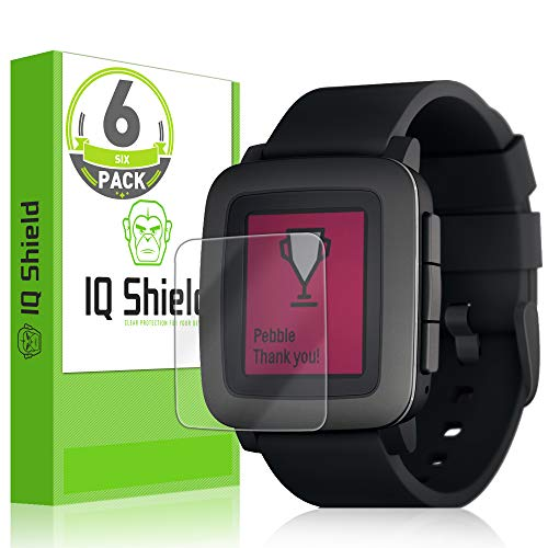 - IQShield Screen Protector Compatible with Pebble Time [6-Pack] LiquidSkin Anti-Bubble Clear Film