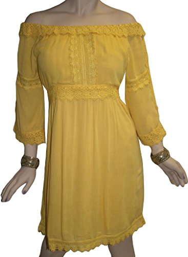 Yellow Baby Doll Dress - 4