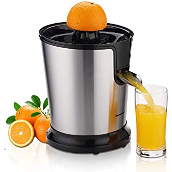Homeleader Electric Citrus Juicer, Stainless Steel Orange Juicer, Fruit Squeezer with Two Cones, Powerful Motor for Grapefruits, Orange and Lemon, ...