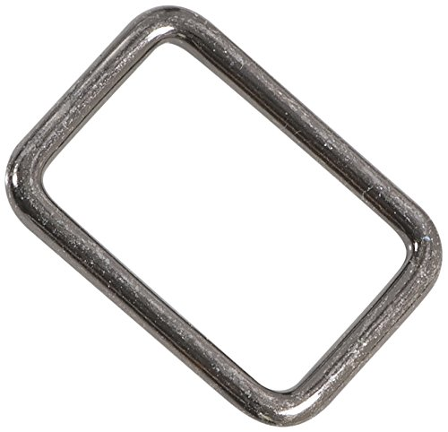 Dritz 727-33 Rectangle Rings, Gunmetal, 1-Inch 2-Count