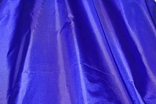 1 Yard Sapphire Blue Tissue Taffeta, 100% Silk Fabric, 44