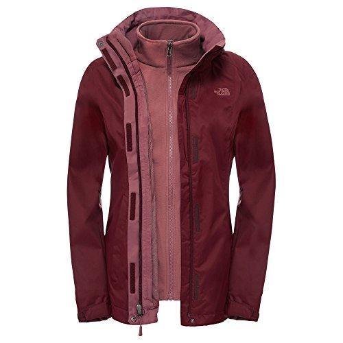 The North Face Damen W Evolve II Triclimate Jacket Jacke, Rot-Deep Garnet Red, XL