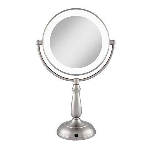 Zadro Satin Nickel Dual Sided Led Lighted Dimmable Touch Vanity Mirror, 12X / 1X Magnification by Zadro (Image #8)