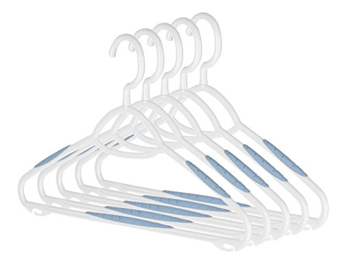 (Whitmor Sure-Grip Plastic Hangers (Set of 5))