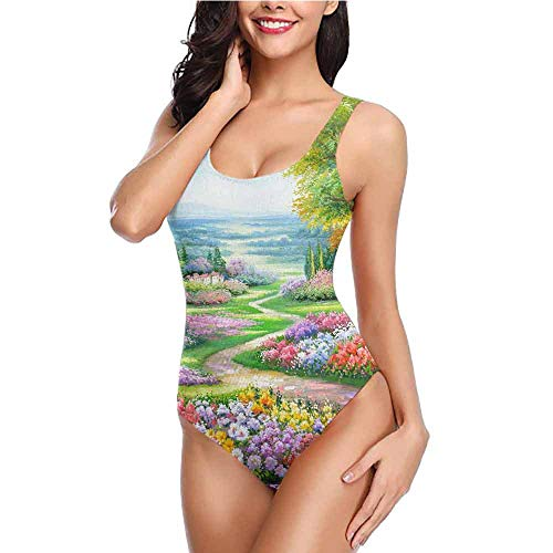 dsdsgog Bikini Patterned Colorful, Landscape, Color (52) M Bathing Suits