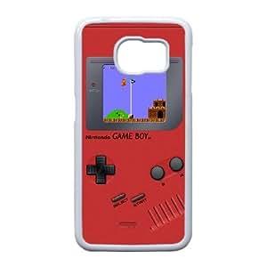 Edge caso de Game Boy A6V79U2RQ funda Samsung Galaxy S6 funda 8N6ES0 blanco