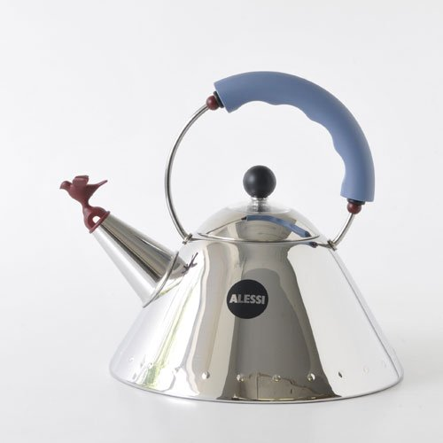 Alessi Michael Graves Kettle with Bird Whistle, Blue Handle by Alessi (Image #1)